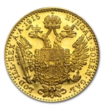 Austria 1915 Gold Ducat Proof-like or Mint State .1106 AGW