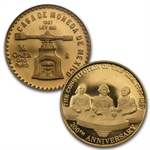 1987 4-Coin Mexican Gold & Silver U.S. Constitution Commem. Set