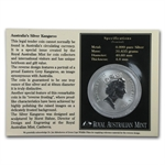 1995 1 oz Australian Silver Kangaroo (In Display Card)