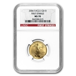 2006 1/4 oz Gold American Eagle MS-70 NGC (First Strike)
