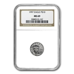 1997 1/10 oz Platinum American Eagle MS-69 NGC