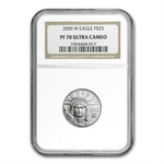 2000-W 1/4 oz Proof Platinum American Eagle PF-70 NGC UCAM