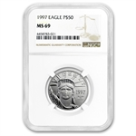 1997 1/2 oz Platinum American Eagle MS-69 NGC