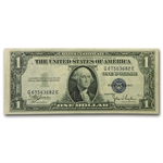 1935-C $1 Silver Certificate    Almost Uncirculated