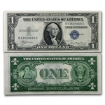 1935-E $1 Silver Certificate Almost Uncirculated