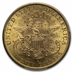 1892-S $20 Gold Liberty Double Eagle - MS-62 PCGS