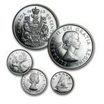 80% Canadian Silver Coins - $10 CAD Face Value - Brilliant Unc