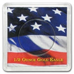 American Gold Eagle Coin Display - 1/2 oz