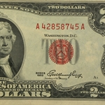 1953s $2.00 (RED SEALS) Crisp Uncirculated