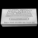 100 oz APMEX Silver Bar .999 Fine (Matte-Finish)