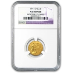 1911-D $2.50 Indian Gold - Strong-D - AU Details NGC - (Cleaned)