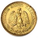 Mexico 2 Pesos Gold Coin - Damaged
