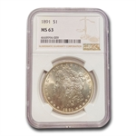 1891 Morgan Dollar MS-63 NGC