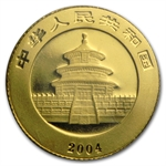 2004 (1/20 oz) Gold Chinese Panda - (Sealed)