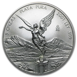 2001 5 oz Silver Mexican Libertad (Brilliant Uncirculated)