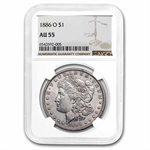 1886-O Morgan Dollar Almost Uncirculated-55 NGC