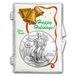 Snap-Lock Holder - Happy Holidays (Silver Eagle)