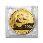1 oz Gold Chinese Panda - (Sealed in Plastic)