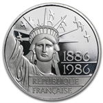 1986 Proof Statue of Liberty 100 Francs Platinum APW .6430