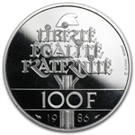 French 100 Platinum Francs (Proof, 1986) APW .6430