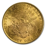 1895 $20 Gold Liberty Double Eagle - MS-63 PCGS