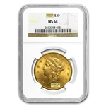 $20 Gold Liberty Double Eagle - MS-64 NGC