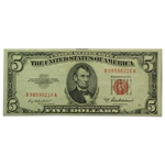 1953s $5.00 Red Seal Extra Fine