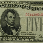 1928 $5.00 US Note (Red Seal) Very Fine