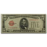 1928 $5.00 Extra Fine (Red Seal)