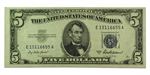 1953's $5 Silver Certificate (Almost Uncirculated)