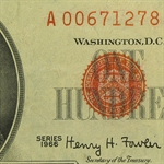 Series 1966 $100 U. S. Note - Very Fine