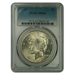 1928 Peace Dollar MS-62 PCGS KEY DATE