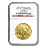 2006 1 oz Gold Buffalo MS-69 NGC (First Strikes)
