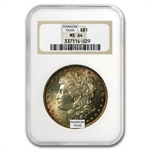 1878-1904 Morgan Dollars - MS-64 NGC - Toned Obverse/Reverse