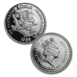 1989 Australian Platinum Koala 5-Coin Proof Set (1.9 oz)