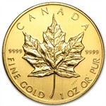 2007 1 oz Gold Canadian Maple Leaf