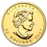 2007 1 oz Gold Canadian Maple Leaf - Brilliant Uncirculated