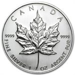 2007 1 oz Silver Canadian Maple Leaf (Brilliant Uncirculated)