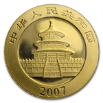 2007 (1/10 oz) Gold Chinese Pandas - (Sealed)