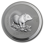 2007 10 oz Silver Lunar Year of the Pig (Series I)