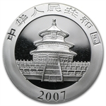 2007 1 oz Silver Chinese Panda - (In Capsule)