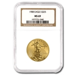 1988 1/2 oz Gold American Eagle MS-69 NGC