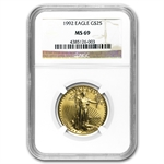 1992 1/2 oz Gold American Eagle MS-69 NGC