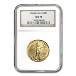 2004 1/2 oz Gold American Eagle MS-70 NGC
