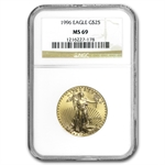 1996 1/2 oz Gold American Eagle MS-69 NGC