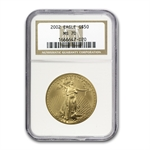 2002 1 oz Gold American Eagle MS-70 NGC