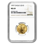1997 1/4 oz Gold American Eagle MS-69 NGC