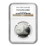 2003-P First Flight Cent'l Half Dollar Clad Comm PF-69 UCAM NGC