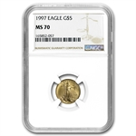 1997 1/10 oz Gold American Eagle MS-70 NGC