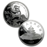 1987 (2 Coin PROOF) Silver Chinese Panda Set - (W/Box and Coa)